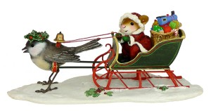 Mouse and Santa's sleigh
